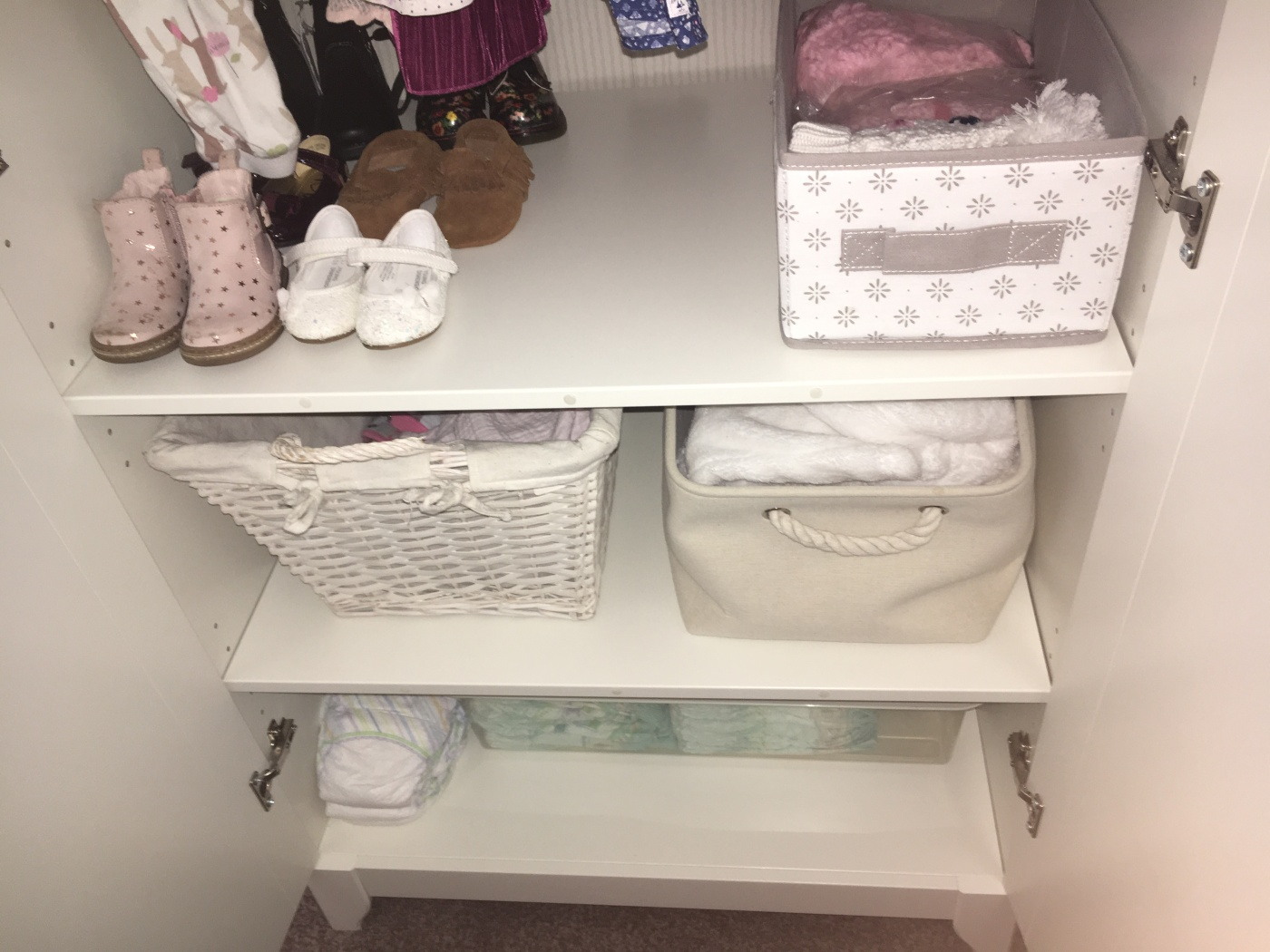 Nursery Wardrobe Organisation - Konmari Method